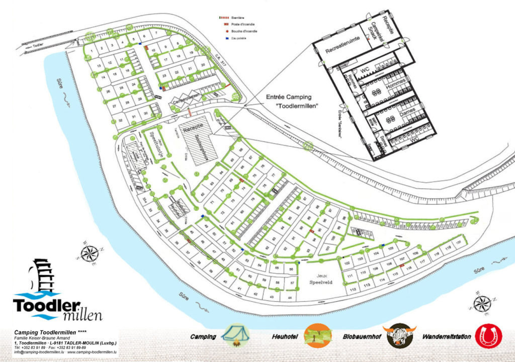 Map « Camping Toodlermillen Camping Map on